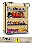 PINDIA 4 LAYER CREAM SHOE RACK ORGANIZER FREE CABLE WINDING FISH