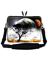 "Meffort Inc 15 15.6 Inch Planet Mars Design Laptop Sleeve Bag Carrying Case With Hidden Handle & Adjustable Shoulder Strap For 14"" 15"" 15.6"" Apple Macbook, Acer, Asus, Dell, Hp, Sony, Toshiba, And More"
