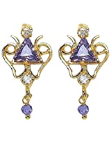 Silver Selection American Diamond Brass Earrings