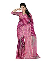 Paaneri Ruby Colour with Golden Strips Blended Cotton Saree_15103501305