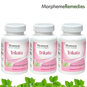 Morpheme Trikatu Supplements For Healthy Digestive System - 500mg Extract - 60 Veg Capsules - 3 Combo Pack