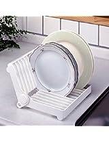 "1 Pc ""HOKIPO"" Brand Folding Plastic Kitchen Dish Rack Stand Plate Holder"