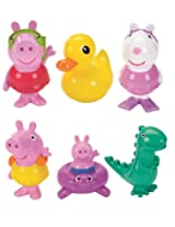 Fisher Price Peppa Pig Bath Squirters Set Peppa George Dinosaur Suzy Sheep & Ducky