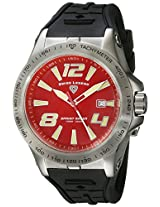 Swiss Legend Watches, Men's Sprint Racer Red Dial Gunmetal IP Case Black Silicone, Model 10043-GM-05