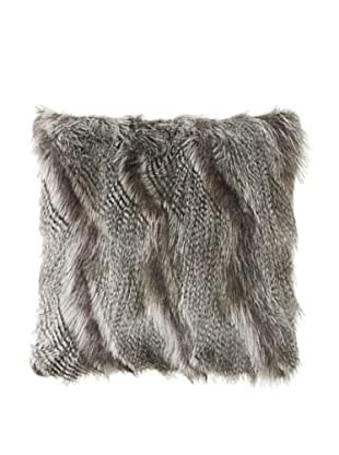 Montague & Capulet Faux Siberian Pillow, Grey
