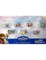 Disney Frozen Days Of The Week Rings Set Childrens Jewelry