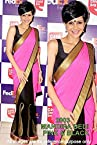 Mandira Pink Black Saree