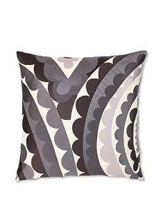 Trina Turk Embroidered Vivacious Pillow (Charcoal)