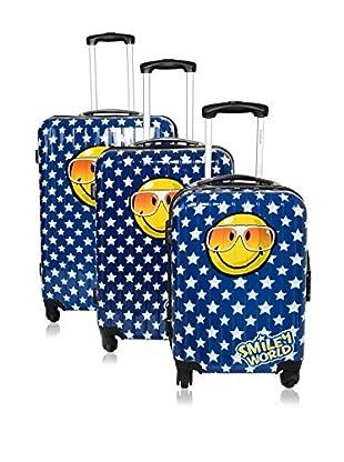 Smiley World Set de 3 trolleys rígidos 89025/3