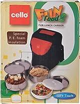 Cello Fun Food 3 Lunch Box 1-Piece, Multicolor