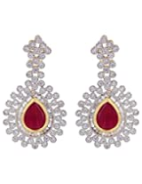 Adwitiya Collection Diamonds And Stone Earrings for Women