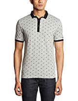 Basics Men's V-Neck Denim Polo