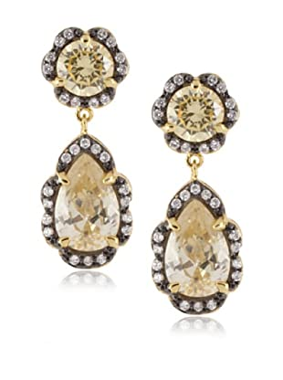 CZ by Kenneth Jay Lane 18K Gold-Plated Byzantine Pear Drop Earrings