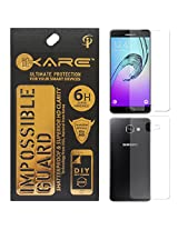 iKare Front/Back Fiber Tempered Glass Screen Protector for Samsung Galaxy A7 2016 Edition (REUSABLE, ULTRA CLEAR, REAL SHOCK PROOF, UNBREAKABLE)