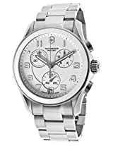 Men'S Chronograph White Dial Stainless Steel (241538)