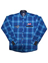LITTLE MAN Cotton Boy's Shirt (LM2C3_16 , Blue, 16)