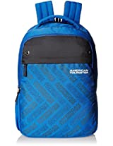 American Tourister Blue/Grey Casual Backpack (AMT ALLER2016 BACKPACK02_8901836129342)