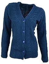 Casanova Women's Long Sleeve Cardigans (7311, Indigo, L)