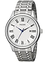 Pulsar Men's PH9039 Traditional Collection Analog Display Japanese Quartz Silver Watch
