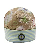 Collage Boy Hat|Khaki Print Size , 1-3M