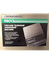 PhoneMate 9800 Two-Line Telephone Answering Machine Dual Microcasette