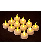 Battery Operated LED Tealight Candles / Diwali Decoration Pack of 12
