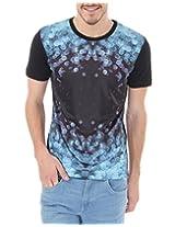 Flying Machine Men's T-Shirt (8907259769806_F2TS0005_Large_Black)
