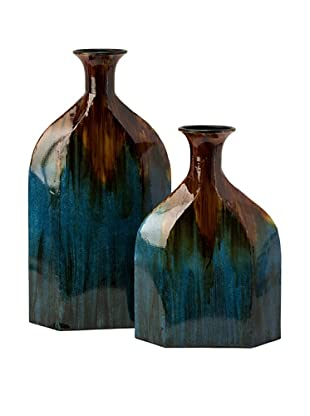 Set of 2 Blaze Blue Drip Bottles