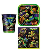 Teenage Mutant Ninja Turtles Party Supplies For 16 People 48 Piece Set 16 Cups 16 Square Dessert Plates And 16 Lunch Napkins