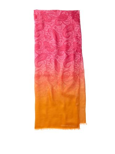 Jonathan Saunders Women's Paisley Scarf (Magenta/Apricot)