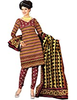 atisundar enticing Yellow And Black Traditional Cotton Printed Salwar Suit- 4349_39_5060