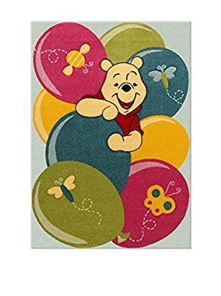 Disney Teppich Disney Premium Winnie Party grau/mehrfarbig 100 x 150 cm