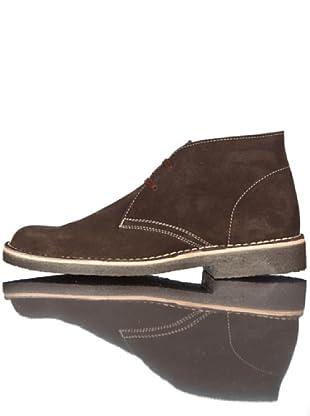 British Passport Zapatos Botín (Chocolate)