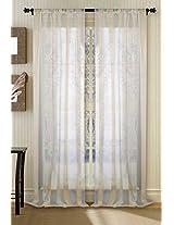 Deco Window Curtain Sheer Champagne 9 ft Long Door