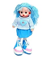 Gifts Online Cute Doll with Light and Music - (Blue)