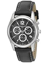 Frederique Constant Men's FC-292BS4B26 Junior Black Chronograph Dial Watch