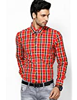 Red Custom Casual Casual Shirt