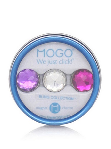 MOGO Design Pink-Clear-Purple Bling Tin Collection