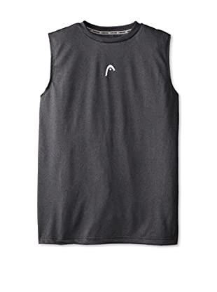 HEAD Men's Sleeveless Hypertek T-Shirt (Black Heather)