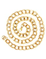 "The jewelbox 22k Gold Plated Italian Broad Multi Links 20"" Chain for Men"