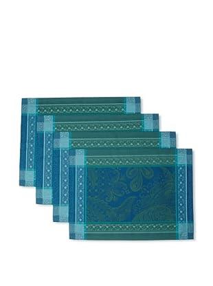 Garnier-Thiebaut Set of 4 Isaphire Placemats (Emeraude)