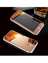 Kapa Electroplated Mirror Front + Back Tempered Glass Screen Protector for iPhone 5 5S - Rose Gold