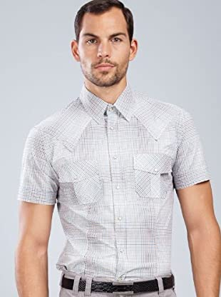 Armand Basi Camisa Babol (marrón / blanco / azul)