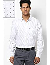 White Printed Regular Fit Casual Shirt Allen Solly
