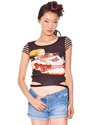 Custo Camiseta (Negro / Amarillo)