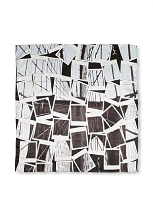 CHIC Women's Photo Collage Digital Square Silk Scarf, Photographs, One Size