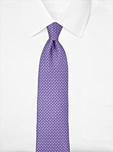 Nina Ricci Men's Geometric Pattern Tie, Purple