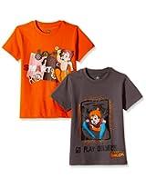 Chhota Bheem Boys' T-Shirt (Pack of 2)