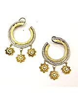 Orne Jewels Gold-Plated Hoop Earring For Women (Multi-Colour)