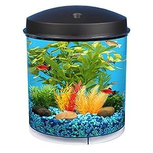 API Aquaview 360 Aquarium Kit with LED Lighting and Internal Filter, 2-Gallon